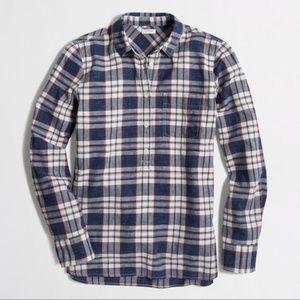 J. Crew Factory Homespun Popover Shirt Boy Fit